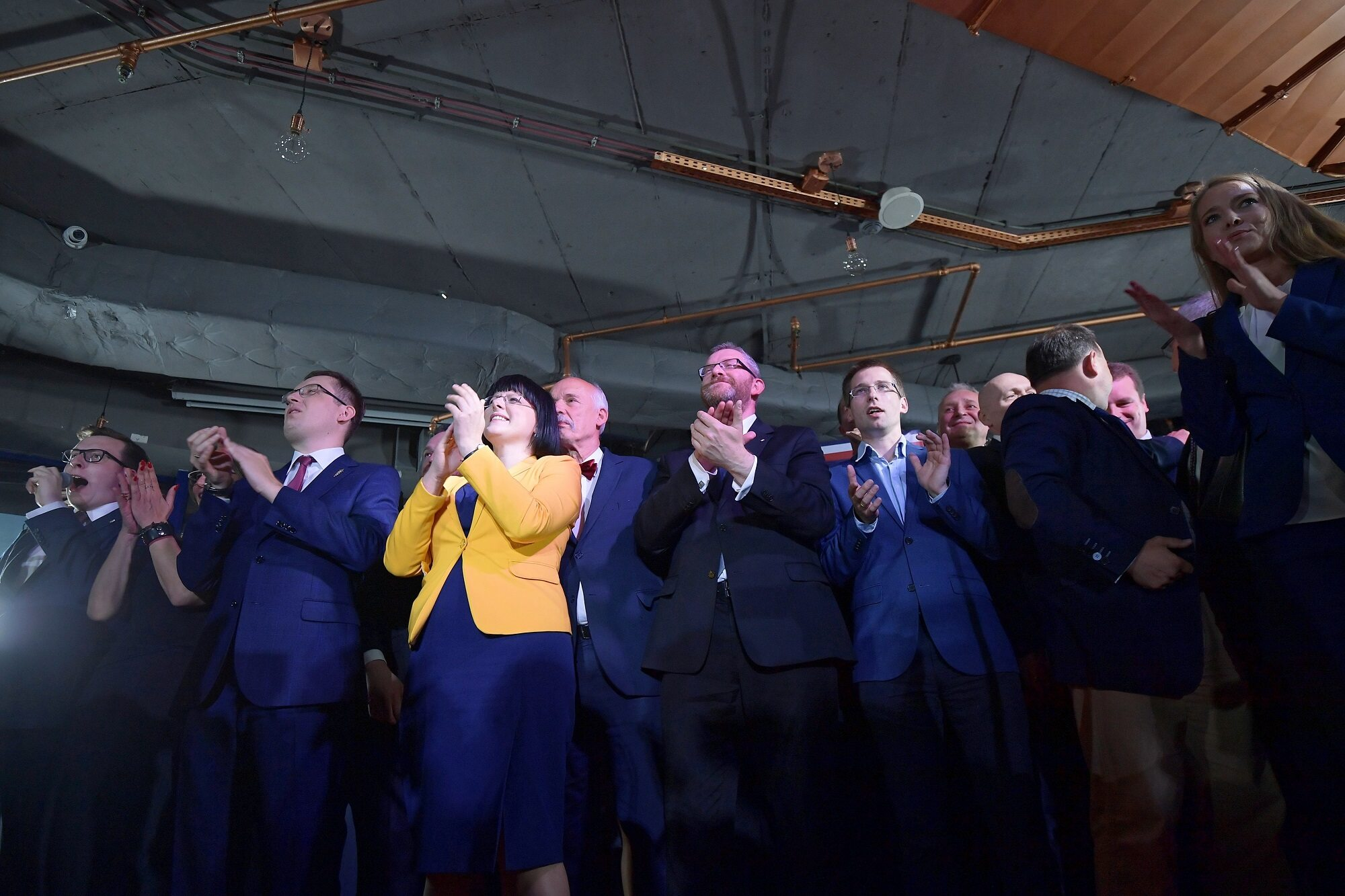 Sztab wyborczy Konfederacji KORWiN Braun Liroy Narodowcy w Warszawie.